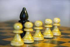 Chess. On the board Royalty Free Stock Photography