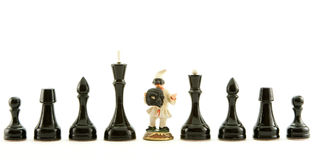 Chess. Black chess isolated on white Royalty Free Stock Photography