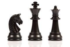 Chess. Men on a white background Royalty Free Stock Photo
