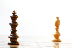 Chess. White versus black, chess game Stock Photo