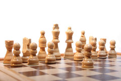 Chess. Board with bright characters on a white background royalty free stock images