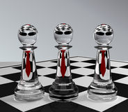 Chess. 3d illustration of chess team Royalty Free Stock Image