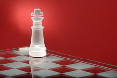 Chess. Board. Glass  piece Stock Photo