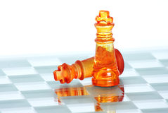 Chess. Strategic games; chess; victory during end game Stock Photo