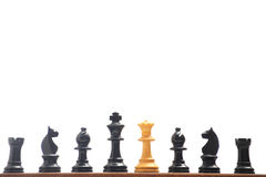 Chess. Pieces on a board stock images