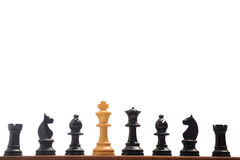 Chess. Pieces on a board stock image