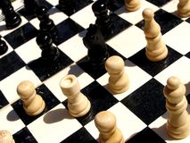 Chess. Detail photo of the chess game background Royalty Free Stock Photography