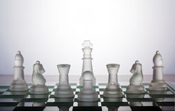 Chess. Pieces protecting the king Royalty Free Stock Photos
