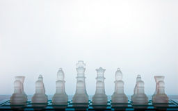 Chess. Pieces on a white background Royalty Free Stock Photo