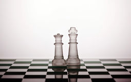 Chess. Pieces on a white background Stock Image