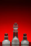 Chess. Strategic games; chess; king and pawn on each side Stock Images