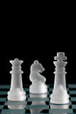 Chess. Strategic games; chess; king only in focus Royalty Free Stock Image