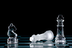 Chess. Strategic games; chess; victory during end game Stock Image