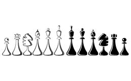Chess. The image of chess. a vector illustration Stock Photos