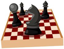 Chess. Illustration of isolated chess on white background Stock Photo