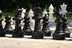 Chess. Pieces on the board Royalty Free Stock Image