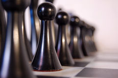 Chess. Depth of field for a chess set up Stock Image