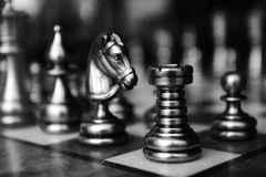 Chess. Picture of a chess board taken in Venice Royalty Free Stock Photography