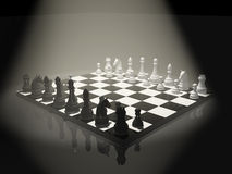 Chess. 3d chess on a board Stock Photography