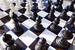Chess. Board and pieces Royalty Free Stock Photos