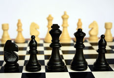Chess. Chess - The sports game for the development of thinking Royalty Free Stock Photo