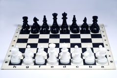 Chess. Figures on a -board Royalty Free Stock Photos