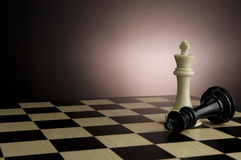 Chess. Game of chess with black and white king Stock Images