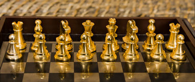 Chess. Pieces on the game board Stock Image