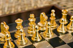 Chess. Pieces on the game board Royalty Free Stock Images