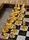 Chess. Pieces on the game board Royalty Free Stock Photos