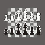 Chess. An illustration of chess piece Royalty Free Stock Image
