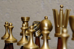 Chess. Men. Shallow depth of field. Focus on one figure Stock Photo