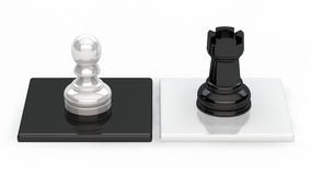 Chess. Pieces on a black and white background Vector Illustration