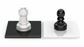 Chess. Pieces on black and white background Vector Illustration
