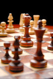Chess. Board with  figures Royalty Free Stock Images