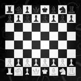 Chess. Board with figures for the game Stock Photos