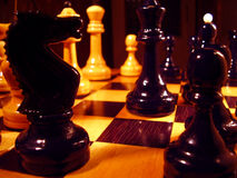 Chess. Board and figures in the random order Stock Photography