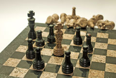 Chess. Checkmate, leaders should not isolate their teams from getting involved in the game (Business Stock Image