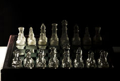 Chess. A chessboard playing chess with checkmate Royalty Free Stock Photography