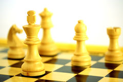 Chess. Aclose up of chess pieces with shallow depth of field Stock Images