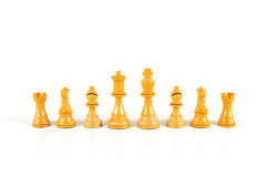 Chess. On white background Royalty Free Stock Image