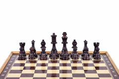 Chess. On white background Royalty Free Stock Photo