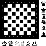 Chess. A chess with piecs - vector illustration Royalty Free Illustration