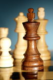 Chess. A game of chess comes to an end. when the king is checkmated, and the other party is victorious Royalty Free Stock Photo