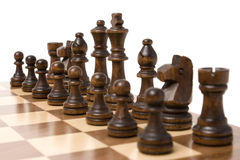 Chess. Close up of chess isolated on a white background Royalty Free Stock Photography