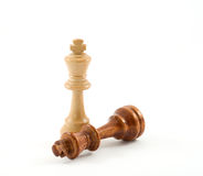 Chess. Figures - illustrating real life situations stock photo