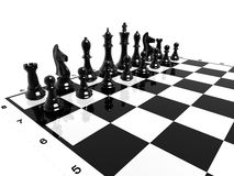 Chess. A chess board, formation, rows Royalty Free Stock Photo