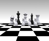 Chess - 3D Royalty Free Stock Photos