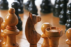 Chess. Board with some pieces Stock Photo