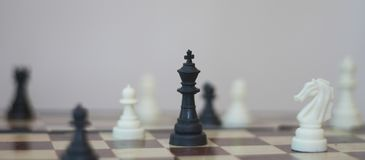 Chess. Foto of chess piece on chess bord Royalty Free Stock Photos